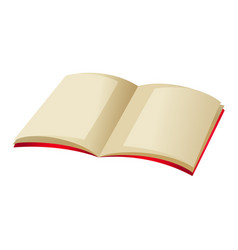 book with blank page and red covers vector image