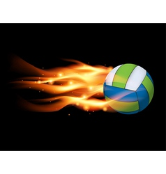 Flaming Volleyball vector image vector image