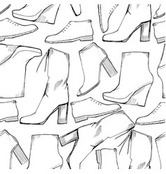 women seamless hand drawn pattern vector image vector image