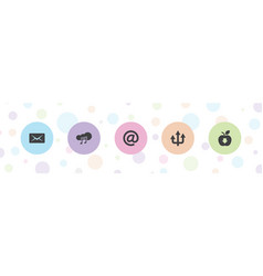 5 download icons vector