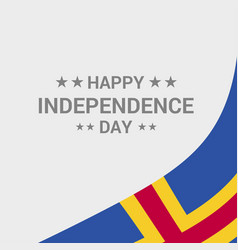 Aland independence day typographic design with vector