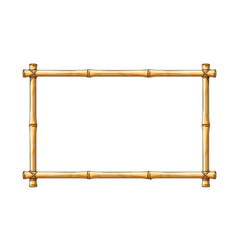 bamboo frame template vector image