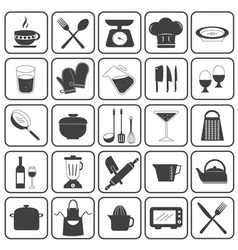 Basic Cooking Icons Set vector