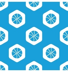 Basketball hexagon pattern vector