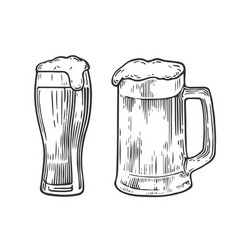 Beer glass mag vector