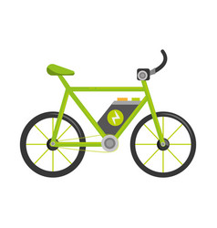 bicycle ecology vehicle isolated icon vector image