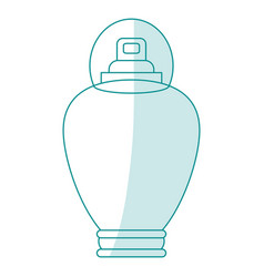Blue silhouette shading cartoon bottle fragrance vector