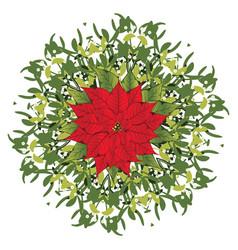 Branch mistletoe vector