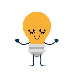 Bulb cute cartoon vector