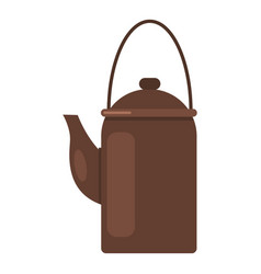 camp teapot icon flat style vector image