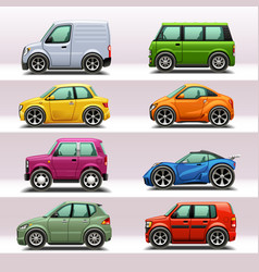 Car icon set-4 vector