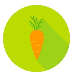 Carrot Vegetable Circle Icon vector image