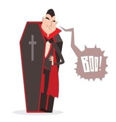 Cartoon Dracula Halloween vector