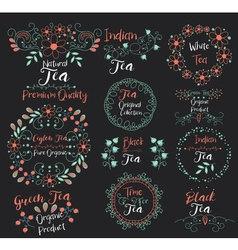 Ceylon Tea Pure OrganicGreen ProductIndian vector image