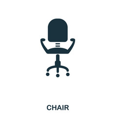 chair icon line style icon design ui vector image