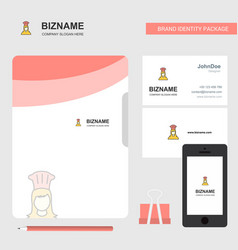 chef business logo file cover visiting card and vector image