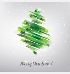 Christmas tree in modern vibrant style symbol vector