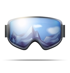Classic snowboarding goggles with big glass vector