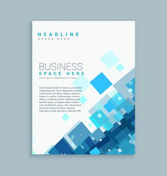 clean business brochure template with blue mosaic vector image
