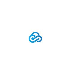 cloud technology sign logo vector image