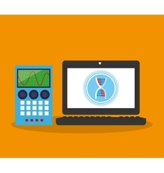 Colorful laptop and science design vector image