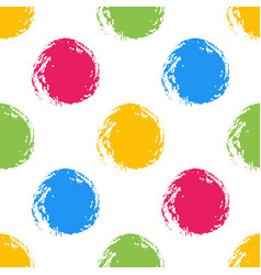colorful polka dot seamless pattern vector image