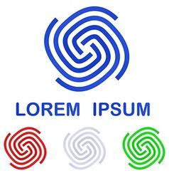 Corporate logo design template set vector
