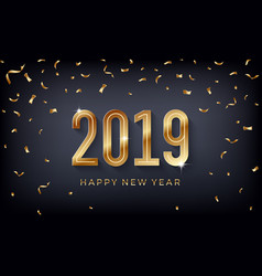 creative abstract happy new year 2019 vector image