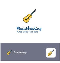 creative guitar logo design flat color logo place vector image
