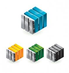Cube 3d sign vector