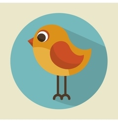 cute bird beautiful icon vector image