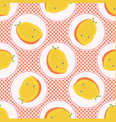 Cute mango fruit polka dot vector