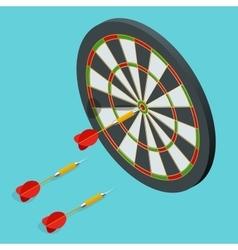 darts target icon darts arrows in target vector image