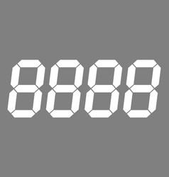 Digital numbers price vector