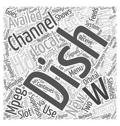 Dish network hdtv Word Cloud Concept vector