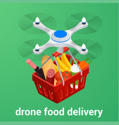 E-commerce concept order food online website vector