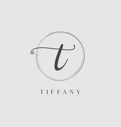 Elegant initial letter type t logo vector