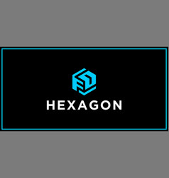 fd hexagon logo design inspiration vector image
