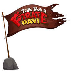 flag pirate with talk like a pirate day word vector image