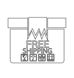 free shipping box icon symbol design vector image