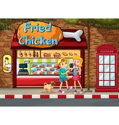 Fried chicken shop vector