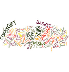 Frugal gift baskets text background word cloud vector