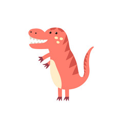 funny tyrannosaurus rex in childish style isolated vector image