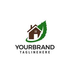 Green house logo template icon design vector
