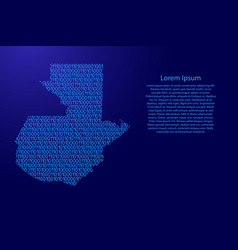 Guatemala map abstract schematic from blue ones vector