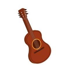 Guitar instrument music melody icon vector