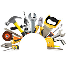 hand tools blank frame vector image