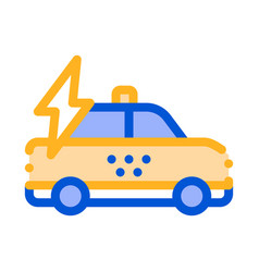 high-speed online taxi icon vector image