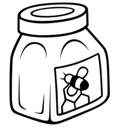 honey in the glass jar vector image