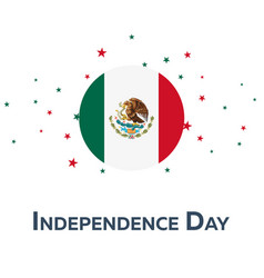 independence day of mexico patriotic banner vector image